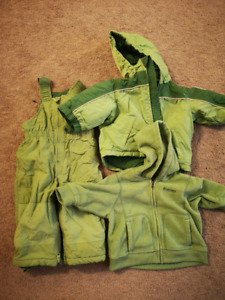 3 piece 18mo old boy winter clothing jacket hoodie and snowpants