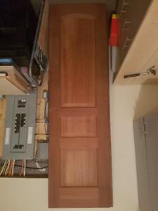 """Solid Mahogany doors for indoor or outdoor; 8 feet, 27 1/2"""""""
