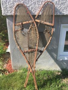 Vielles raquettes pour décoration