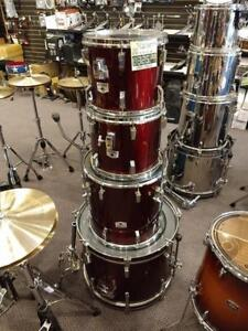 Tama Rockstar Shell Kit Drum 12,13,16,22, Rouge Vin-Red Wine - usagée/used