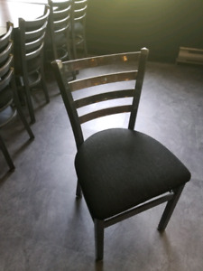 """12 30""""x30"""" Restaurant Tables and 32 Metal Chairs"""