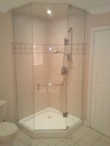 High Quality Angle Glass Shower Door with Base