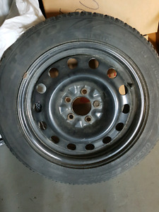 5 x 114.3 steel rims/ winter tires- 205/55/16