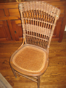 Antique cane & wicker chair