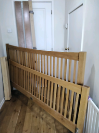 Super King Size Solid Oak Bed Frame As New Selby