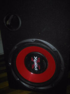 12 inch sub woofer with amp and box