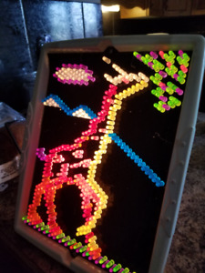 Vintage Lite-Brite with Peg and Sheets Hasbro