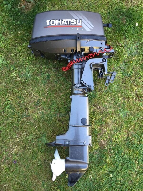 2004 Tohatsu 5hp 2 Stroke Short Shaft Outboard Engine In