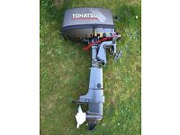 2004 Tohatsu 5hp 2 stroke short shaft outboard engine