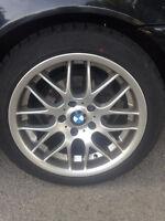 4 BMW Tires + Rims 16 spoke 225/45/17