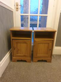 2 x Ikea Aspelund bedside cabinets