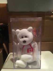TY BEANIE BABY - CANADA - IN PROTECTIVE DISPLAY CASE