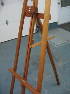 """Chevalet de peinture avec 3 cadres 12"""" x 24"""" gratuit"""