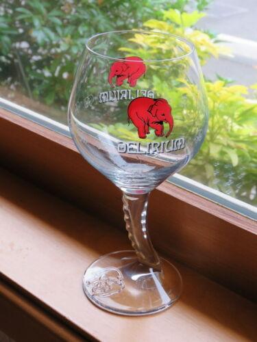 Beer Stem Glass: Belgian Brouwerij Huyghe DELIRIUM Tremens Bier ~ Pink Elephants