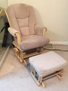 Shermag glider and matching ottoman