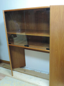 TEAK CORNER DISPLAY CABINET AND TV UNIT