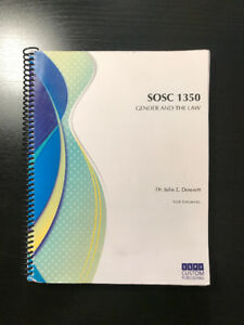 SOSC 1350 - Gender and Law Course
