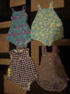 SUMMER OVERALL OUTFITS/DRESS - $2.00/each