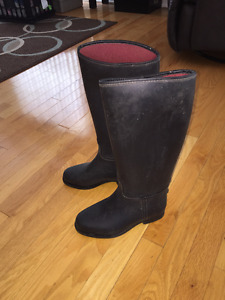 Rubber Riding Boots wide calf, size 36 (4.5ish women's)