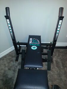 Excellent Bench press with lifting bar