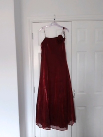 Burgundy ball gown size 8
