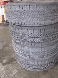 215-60-17 BRIDGESTONE TURANZA ALL SEASON TIRES - SAVE $$