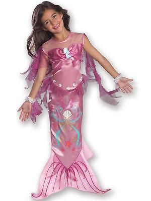 Little Mermaid Girl Kostüme (Child Pink Little Mermaid Fancy Dress Costume Kids Girls Female BN)