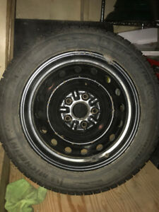 205/55R16 Michelin X-ice winter tires and steel wheels