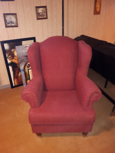 Retro Chair - Burgundy color