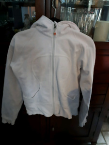 Lululemon White Scuba jacket size 8
