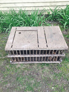Antique chicken crates