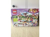 BRAND NEW IN BOX LEGO FRIENDS HEARTLAKE CITY POOL AND LEGO FRIENDS BRICKMASTER BOOK
