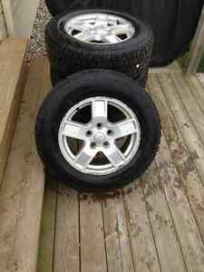 Jeep Grand Cherokee Winter Tires on Rims