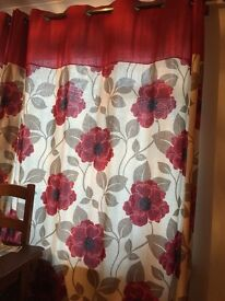 Red poppy curtains from Sterling Home Store