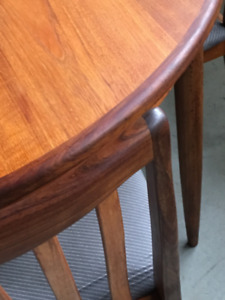 G Plan dinning table and chair set