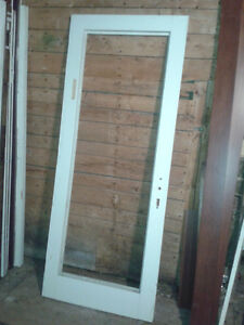 Exterior screen door & a used garden door.  $50 each.