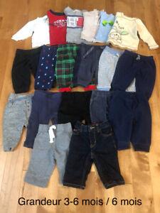Lot de vêtements pour bébé 3-6 mois / 6 mois