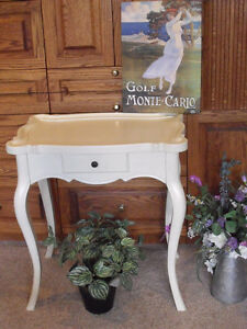 White French Provincial wood table (  ⬇ Price)