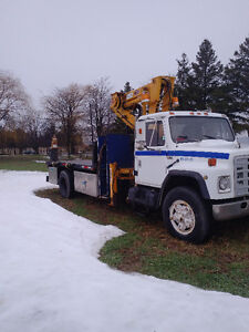 Flatbed with Crane truck