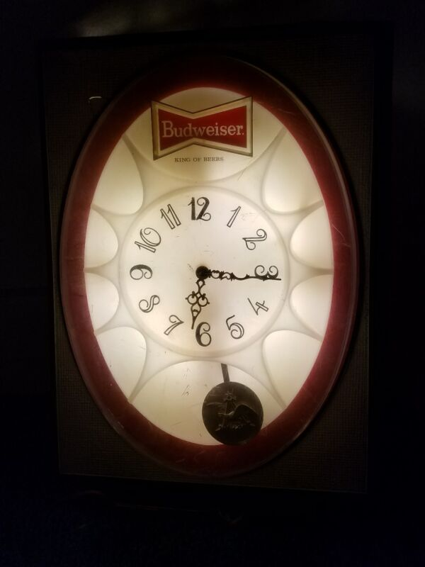 1971 Budweiser lighted clock