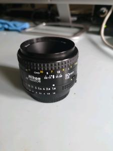 Lentille Nikon AF Nikkor 50 mm F 1.8 Lens