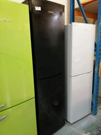 Hoover tall fridge freezer black with warranty at Recyk