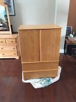 Morigeau Bedroom dresser with 2 drawers and shelves