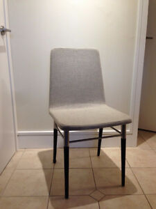 Light-grey IKEA PREBEN chairs (2)