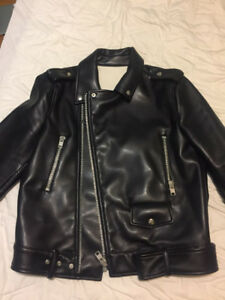 MSGM Premium Biker Leather Jacket Size 48