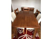 DINING ROOM SET, TABLES & CHAIRS etc