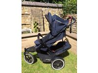 Phil&Teds Navigator 2 double buggy with extra seat