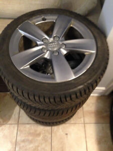 "**WOW!! ORIGINAL AUDI 17"" Rims on tires. Great condition!**"