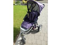Quinny travel system pram/buggy/car purple