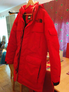 North Face Down Parka Men's RED Small/Medium or Kids XL / Large